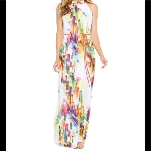 5eb41035345a6 chetta b Dresses | Sleeveless Belted Maxi Dress | Poshmark